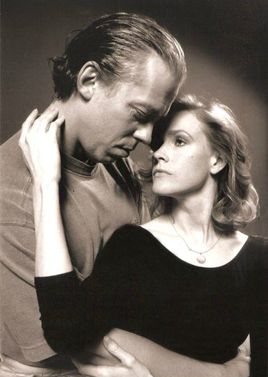 "Terrence Mann and Sara Wood in ""Burn This"""